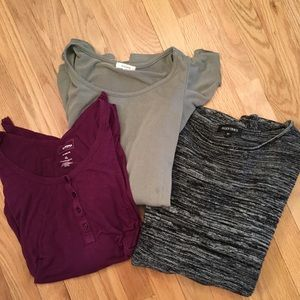 Bundle of 3 size XL long sleeve tops